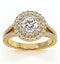 Camilla GIA Diamond Halo Engagement Ring in 18K Gold 1.15ct G/SI1 - image 3