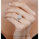 Camilla GIA Diamond Halo Engagement Ring 18K White Gold 1.15ct G/SI2 - image 4