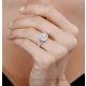 Camilla GIA Diamond Halo Engagement Ring in Platinum 2.15ct G/VS1 - image 4