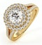 Camilla GIA Diamond Halo Engagement Ring in 18K Gold 1.65ct G/VS1 - image 1