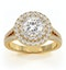 Camilla GIA Diamond Halo Engagement Ring in 18K Gold 1.65ct G/VS1 - image 3