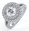 Camilla GIA Diamond Halo Engagement Ring 18K White Gold 1.85ct G/VS1 - image 1