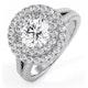 Camilla GIA Diamond Halo Engagement Ring in Platinum 2.15ct G/VS1 - image 1
