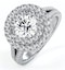 Camilla GIA Diamond Halo Engagement Ring in Platinum 2.15ct G/SI1 - image 1