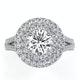 Camilla GIA Diamond Halo Engagement Ring in Platinum 2.15ct G/VS1 - image 2