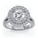 Camilla GIA Diamond Halo Engagement Ring in Platinum 2.15ct G/VS1 - image 3