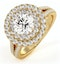 Camilla GIA Diamond Halo Engagement Ring in 18K Gold 2.15ct G/VS1 - image 1