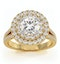 Camilla GIA Diamond Halo Engagement Ring in 18K Gold 2.15ct G/VS1 - image 3