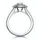 Camilla GIA Diamond Halo Engagement Ring 18K White Gold 1.15ct G/SI2 - image 3