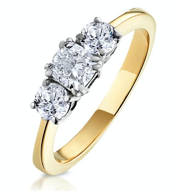 3 Stone Meghan Diamond Engagement Ring 1CT G/Vs1 in 18K Gold - image 1