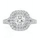 Anastasia GIA Diamond Halo Engagement Ring in Platinum 1.30ct G/VS1 - image 2
