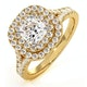 Anastasia GIA Diamond Halo Engagement Ring in 18K Gold 1.30ct G/VS2 - image 1