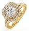 Anastasia GIA Diamond Halo Engagement Ring in 18K Gold 1.30ct G/SI1 - image 1