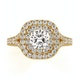 Anastasia GIA Diamond Halo Engagement Ring in 18K Gold 1.30ct G/VS2 - image 2