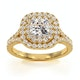 Anastasia GIA Diamond Halo Engagement Ring in 18K Gold 1.30ct G/VS2 - image 3