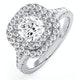 Anastasia GIA Diamond Halo Engagement Ring 18K White Gold 1.45ct G/SI2 - image 1