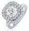 Anastasia GIA Diamond Halo Engagement Ring 18K White Gold 1.70ct G/SI2 - image 1