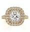 Anastasia GIA Diamond Halo Engagement Ring in 18K Gold 1.70ct G/SI2 - image 2
