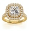Anastasia GIA Diamond Halo Engagement Ring in 18K Gold 1.70ct G/SI2 - image 3