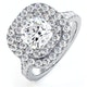 Anastasia GIA Diamond Halo Engagement Ring in Platinum 1.85ct G/SI1 - image 1