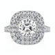 Anastasia GIA Diamond Halo Engagement Ring in Platinum 1.85ct G/SI1 - image 2