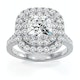 Anastasia GIA Diamond Halo Engagement Ring in Platinum 1.85ct G/SI1 - image 3
