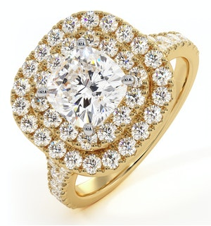 Anastasia Lab Diamond Halo Engagement Ring in 18K Gold 2.70ct G/VS1