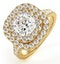 Anastasia Lab Diamond Halo Engagement Ring in 18K Gold 2.70ct G/VS1 - image 1