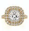 Anastasia Lab Diamond Halo Engagement Ring in 18K Gold 2.70ct G/VS1 - image 2