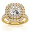 Anastasia Lab Diamond Halo Engagement Ring in 18K Gold 2.70ct G/VS1 - image 3