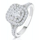 Anastasia GIA Diamond Halo Engagement Ring in Platinum 1.30ct G/VS1 - image 1