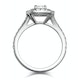 Anastasia GIA Diamond Halo Engagement Ring in Platinum 1.30ct G/VS1 - image 3