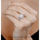 Cleopatra GIA Diamond Halo Engagement Ring in 18K Gold 1.45ct G/VS1 - image 4