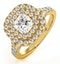 Cleopatra GIA Diamond Halo Engagement Ring in 18K Gold 1.45ct G/SI1 - image 1