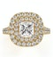 Cleopatra GIA Diamond Halo Engagement Ring in 18K Gold 1.70ct G/VS1 - image 2