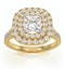 Cleopatra GIA Diamond Halo Engagement Ring in 18K Gold 1.70ct G/VS1 - image 3