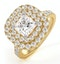 Cleopatra GIA Diamond Halo Engagement Ring in 18K Gold 1.85ct G/VS1 - image 1
