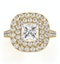Cleopatra GIA Diamond Halo Engagement Ring in 18K Gold 1.85ct G/VS1 - image 2