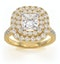 Cleopatra GIA Diamond Halo Engagement Ring in 18K Gold 1.85ct G/VS1 - image 3