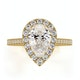 Diana GIA Diamond Pear Halo Engagement Ring in 18K Gold 1.60ct G/SI1 - image 2