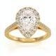 Diana GIA Diamond Pear Halo Engagement Ring in 18K Gold 1.60ct G/SI1 - image 3