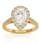 Diana GIA Diamond Pear Halo Engagement Ring in 18K Gold 1.60ct G/SI2 - image 3