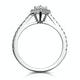 Diana GIA Diamond Pear Halo Engagement Ring Platinum 1ct G/VS1 - image 3