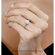 Georgina GIA Oval Diamond Halo Engagement Ring Platinum 1.30ct G/Vs1 - image 4