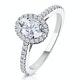 Georgina GIA Oval Diamond Halo Engagement Ring Platinum 1.30ct G/Vs1 - image 1