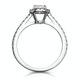 Georgina GIA Oval Diamond Halo Engagement Ring Platinum 1.30ct G/Vs1 - image 3
