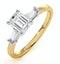 Genevieve GIA Emerald Cut Diamond Ring in 18K Gold 0.90ct G/VS2 - image 1