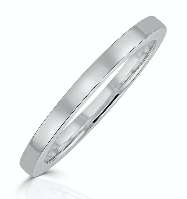 Genevieve Matching Wedding Band in 18K White Gold - image 1