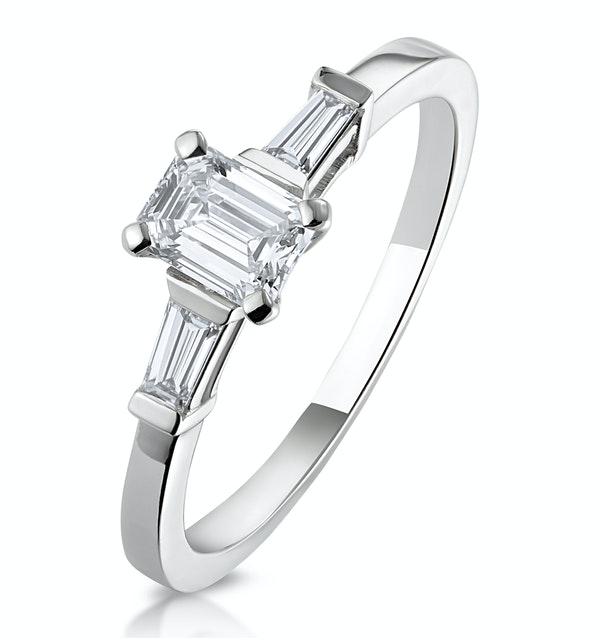 Genevieve GIA Emerald Cut Diamond Ring in Platinum 0.70ct G/SI2 - image 1