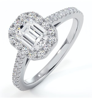 Annabelle GIA Diamond Halo Engagement Ring in Platinum 1.35ct G/VS2